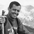 Dr. Starzl on his way to Long's Peak in the Rocky Mountains, 1977.